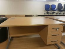 Beech 1400 x 800 Single Pedestal Desk
