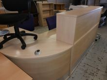 Maple curved Reception Desk