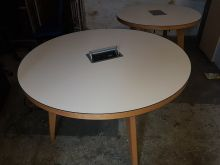 Jura Oak and White Meeting Tables