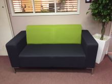 2 seater reception chair