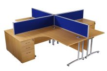 Radial Cantilever Workstation Set Complete