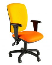 Square Backed Twin Lever Operators Chair with Adjustable Arms