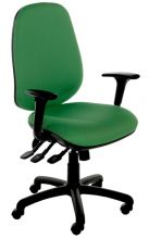 TSK/ZA - High Backed Triple Lever Task / Operators Chair with Adjustable Arms