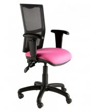 Mesh Backed Twin Lever Operator / Task Chair with Adjustable Arms